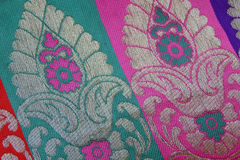 Design weaved on the textile Royalty Free Stock Photography