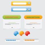Design web Imagem de Stock