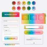 Design web Imagem de Stock Royalty Free