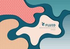 Design web abstrato da bandeira do estilo da dinâmica do fundo 3D das formas fluidas com conceito moderno do teste padrão Você po ilustração do vetor