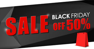 Design of web banner for sales on Black Friday Royalty Free Stock Images