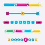 Design web colorido Imagens de Stock