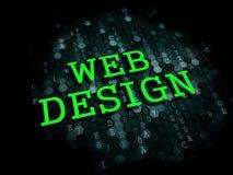 Design web. Conceito do Internet. ilustração stock