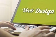 Design web de computação home Imagens de Stock Royalty Free
