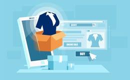 Design web do app para a compra em linha ilustração royalty free