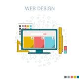 Design web do desktop Foto de Stock