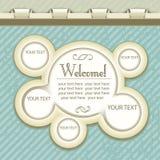 Design web do vintage Imagem de Stock