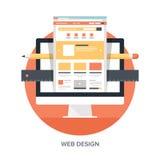 Design web e desenvolvimento Fotografia de Stock Royalty Free