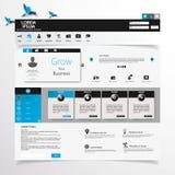 Design web, elementos, botões, ícones. Moldes para o Web site. Imagem de Stock Royalty Free
