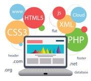 Design web infographic Imagens de Stock
