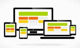 Design web responsivo Foto de Stock