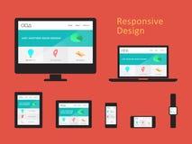 Design web responsivo Fotografia de Stock