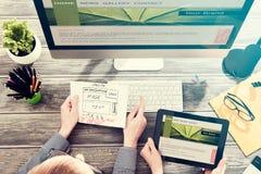 Design web responsivo Imagens de Stock