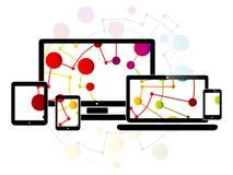 Design web responsivo do Internet Imagem de Stock