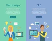 Design web, SEO Infographic Set ilustração royalty free