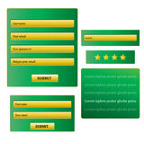 Design web verde Fotos de Stock Royalty Free