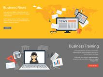 Design for website of business news, training Stock Photo