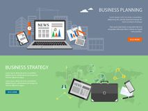Design for website of business planning,  analytis, strategy Royalty Free Stock Photos