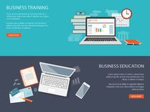 Design for website of business training Royalty Free Stock Image
