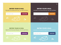 Design of the website form for email subscribe.Vector set. Royalty Free Stock Photos