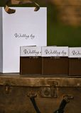 Design of wedding disc. Boxes and packages Stock Photography