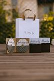 Design of wedding disc. Boxes and packages Royalty Free Stock Photos