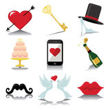 Design wedding  icons for Web and Mobile in Vector Royalty Free Stock Photography