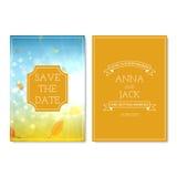 Design of the wedding invitation cards Stock Photo