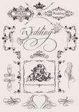 Design  Wedding Page Decoration. Royalty Free Stock Image