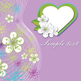 Design for wedding template.Spring flowers,line ba Stock Image