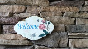 Design welcome sign Royalty Free Stock Photo