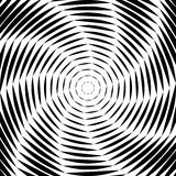 Design whirl movement illusion background. Design monochrome whirl movement illusion background. Abstract striped lines distortion backdrop. Vector-art stock illustration