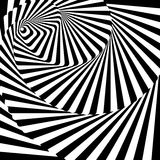 Design whirlpool movement illusion background Stock Image