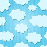 Design White  Clouds in Blue Sky. Royalty Free Stock Photo