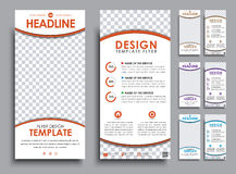 Design white  flyers size of 210x99 mm. Stock Images