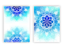 Design with white mandala Stock Photo