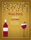 Design for wine event. Suitable for poster, promotional leaflet, invitation, banner. Design for wine party. Suitable for poster, promotional leaflet, invitation Royalty Free Illustration