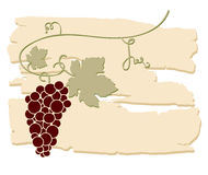 Design for wine list. Stock Photography