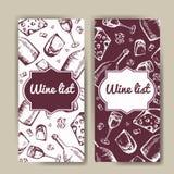 Design for wine list. Restaurant template  invitation, menu, banner or etc. Wine concept design. Vector illustration Royalty Free Stock Images