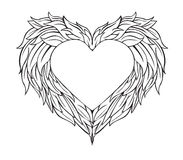 Design Winged Heart on Valentine`s Day.vector and illustration Royalty Free Stock Photos