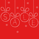 Design for winter and Christmas sale Stock Image