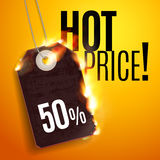 Design With Fire. Hot Sale Stock Image