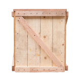Design of wood crate for cargo protection Stock Photos