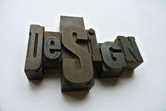 Design on wood type Royalty Free Stock Photo