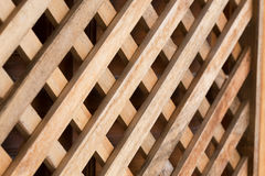 Design of wood wall panel plank cross Royalty Free Stock Photos
