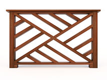 Design wooden railing with wooden balusters Royalty Free Stock Images