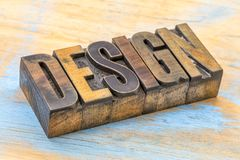 Design word abstract in wood type Royalty Free Stock Image