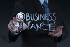 Design word BUSINESS  FINANCE Royalty Free Stock Images