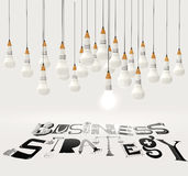 Design word BUSINESS STRATEGY Royalty Free Stock Photography