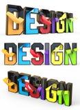 Design word Stock Photos